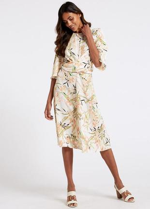 Новое миди платье в цветы от marks&spencer