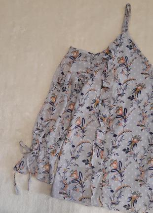 Шифоновая блуза с рюшами открытое плечо длинный рукав размер 1...