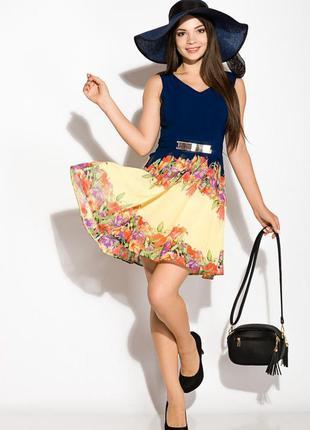 Шифоновое платье с v-образным вырезом 964k028