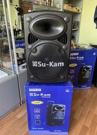 Большая Мощная 120W Беспроводная Bluetooth колонка Su-Kam BT120