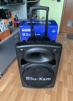 Большая Мощная Bluetooth колонка Su-Kam 150W + 2 микрофона