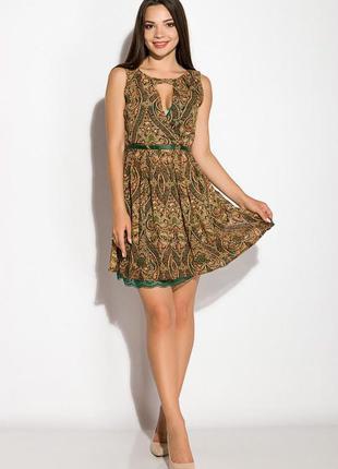Платье женское с свободной юбкой 964k029
