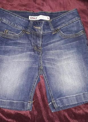 Шорти джинсові only короткі сині джинси бриджі