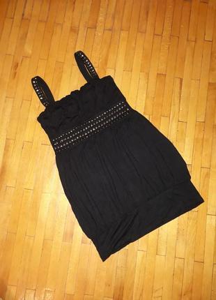 Маєчка чорна clockhouse шикарна майка плаття туніка сукня футб...