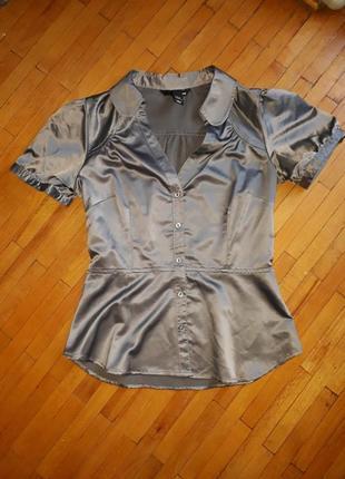 Блузка h&m блуза сорочка футболка сіра