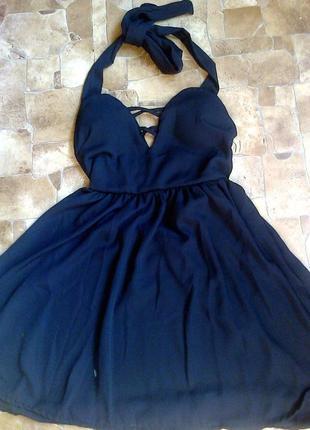 Платье шнуровка с открытой спиной