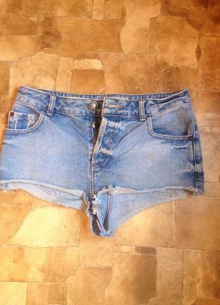 Шорты джинсовые завышенная посадка талия