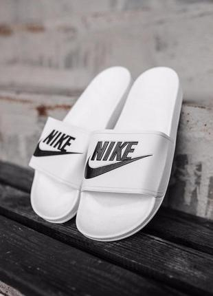 Шикарные мужские летние тапки nike white ◈ шлёпки ◈ тапочки ◈с...