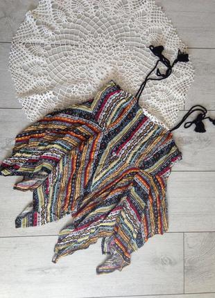 Блуза топ с ассиметричным низом в стиле этно бохо clockhouse