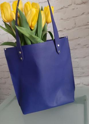 Кожаная сумка шопер шоппер