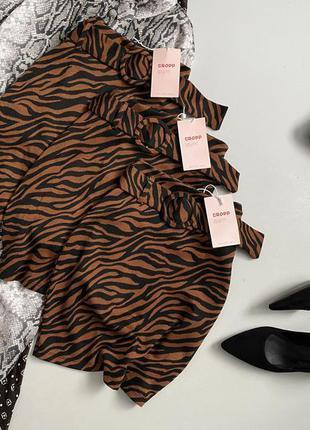 Новая юбка с анималистическим принтом и поясом cropp town
