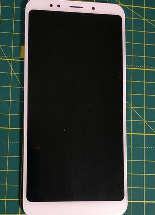 Дисплей Xiaomi Redmi 5 Plus белый тачскрин с корпусной рамкой