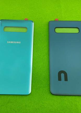 Задняя крышка корпуса Samsung Galaxy S10, зеленая