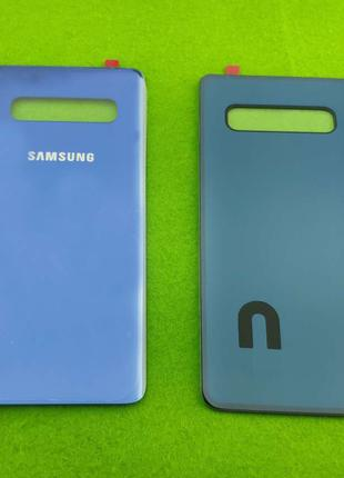 Задняя крышка корпуса Samsung Galaxy S10, синяя