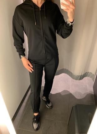 Чёрный спортивный костюм без начёса amisu есть размеры