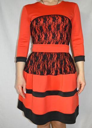 Платье, юбка солнце клеш, красное платье, плаття,червона сукня