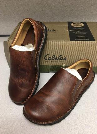 38р. женские кожаные туфли американской фирмы cabela's.