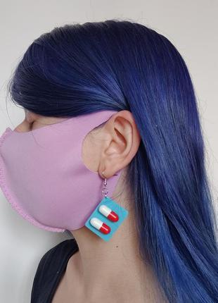 Многоразовая стильная защитная питта маска красивого лилового ...