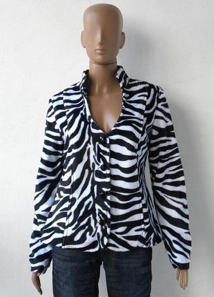Легка куртка-жакет з ворсом 42 розмір (36 євророзмір)