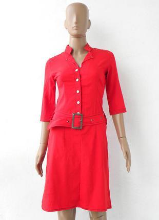 Гарне, оригінальне, червоне плаття на гудзиках 44 розмір (38 є...