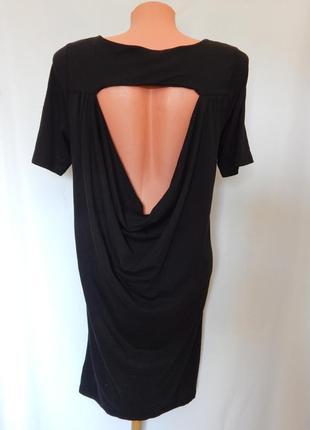 Черное легкое платье от monki(размер 36-38)