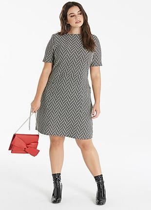 Фактурное платье прямого кроя от capsule (размер 22)