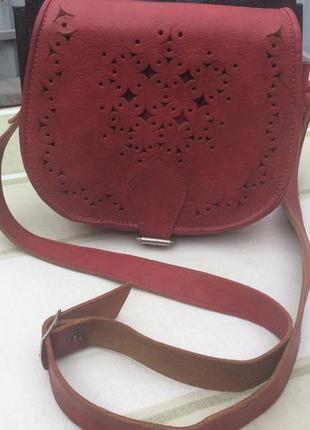 Кожаная сумочка hand made