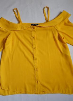 Желтая блуза new look (размер 38-40)