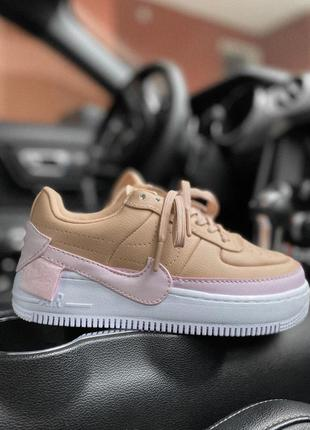 Кроссовки nike air force pink/beige 💎