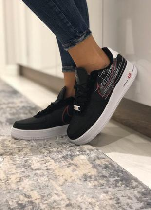 Женские кроссовки nike air force black/white💎