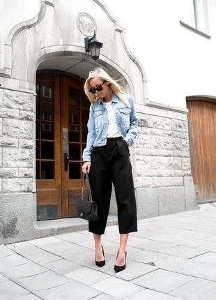 Черные брюки-кюлоты evie collection(размер 14)