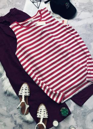 Новая с биркой крутая футболка туника в полоску
