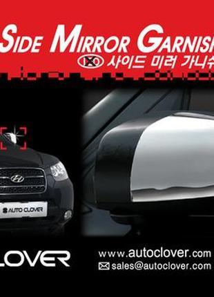 Хром накладки на зеркала Hyundai Santa Fe 06-10