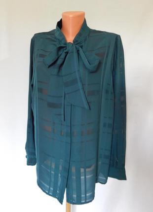 Блуза бутылочно-зеленого цвета papaya(размер 16)