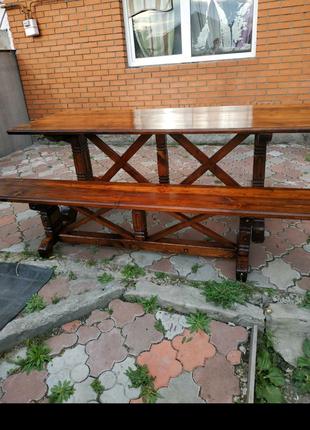 Стол и лавочка (под заказ)