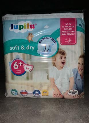 Lupilu soft&dry 6+ памперсы памперси