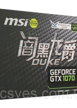 MSI PCI-Ex GeForce GTX 1070 Duke 8GB GDDR5 (256bit)