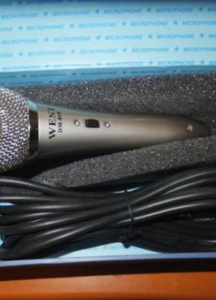 Микрофон для караоке WEST DM-889 -металл!