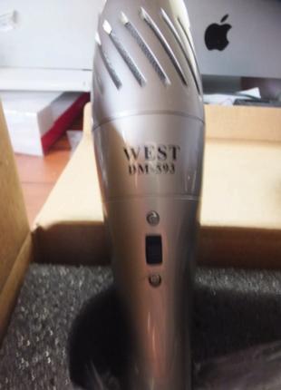 Микрофон для караоке WEST DM-593 -металл!