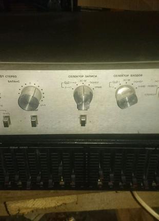 Пред усилитель радиотехника уп 001 стерео