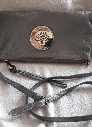 Mulberry crossbody кроссбоди кожаная сумка кожаный клатч
