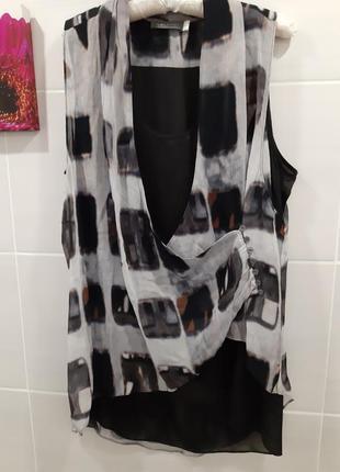 Вискозная блуза туника дорогой бренд