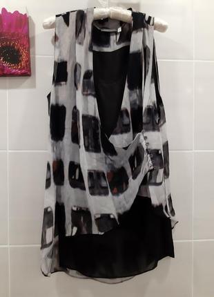 Шикарная вискозная  легкая блуза туника