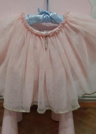 Next пышная юбка сетка зефирка пудровая