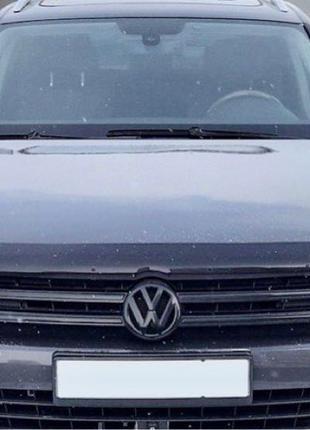 Дефлектор капота SIM Volkswagen Touareg 2 2010-2018 темный