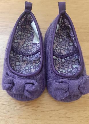Туфли пинетки 18-19 размер