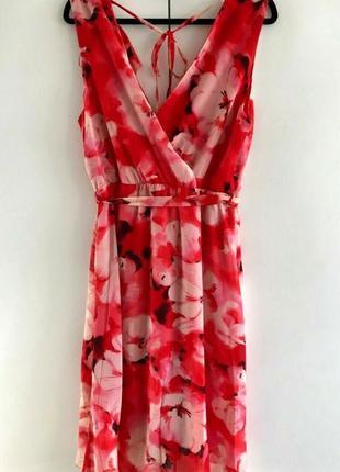 Эффектное красное платье bhs ( размер 12-14)