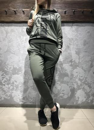 Женский турецкий спортивный костюм турция  amn amnesia цвет хаки