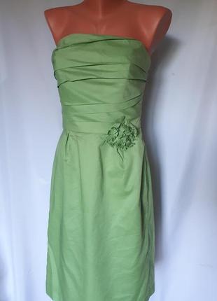 Платье- бюстье коктельное , цвета ранняя зелень, dessy collect...