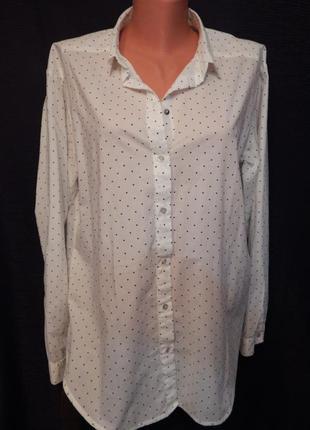 Стильная женская рубашка свободного кроя h&m ( размер 40)
